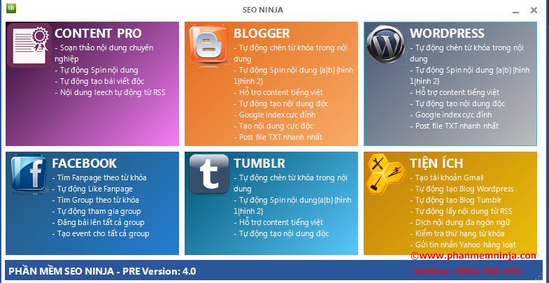 1 Phần mềm seo, phần mềm đăng bài lên bloger đăng bài lên wordpress