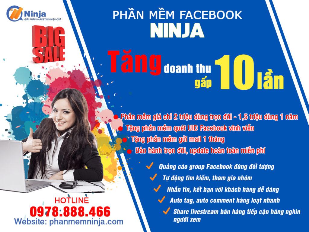 bigsale phanmemninja 2 1024x768 Phần mềm quét UID Facebook Ninja, đăng tin bán hàng trên Facebook