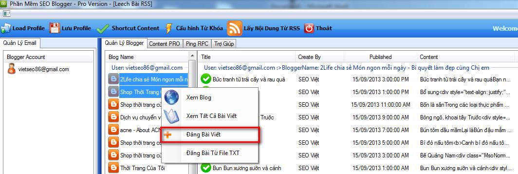 phan mem seo blogspot 5 Phần mềm đăng bài lên Blogspot – Blogger với SEO NINJA