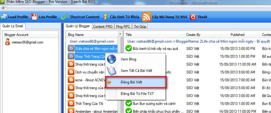 phan mem seo blogspot 8 Phần mềm đăng bài lên Blogspot – Blogger với SEO NINJA