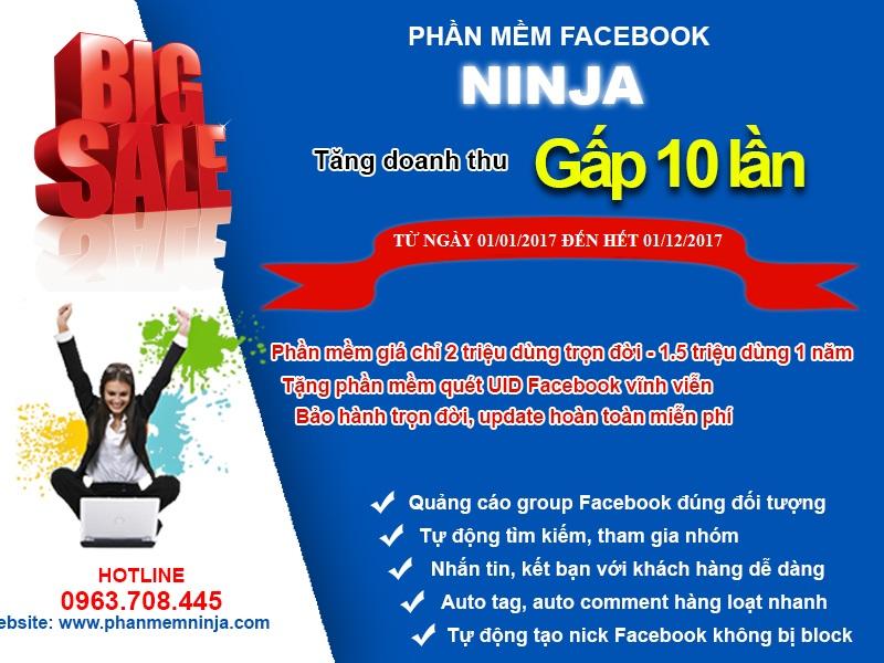 bigsale phanmemninja Phần mềm quét UID Facebook Ninja, đăng tin bán hàng trên Facebook
