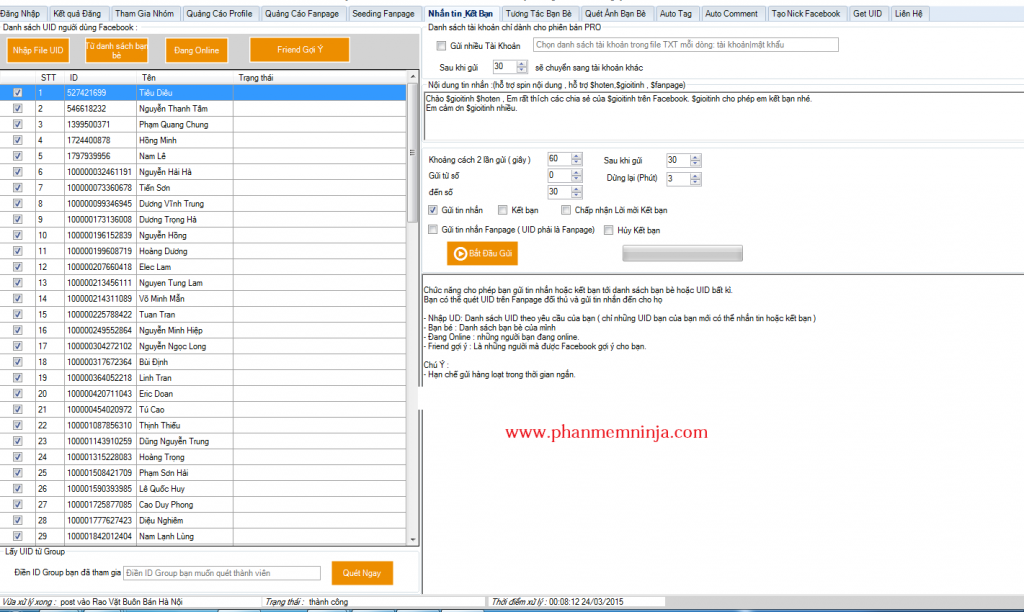 phan mem facebook ninja 1024x612 Phần mềm quảng cáo facebook, đăng tin bán hàng trên facebook