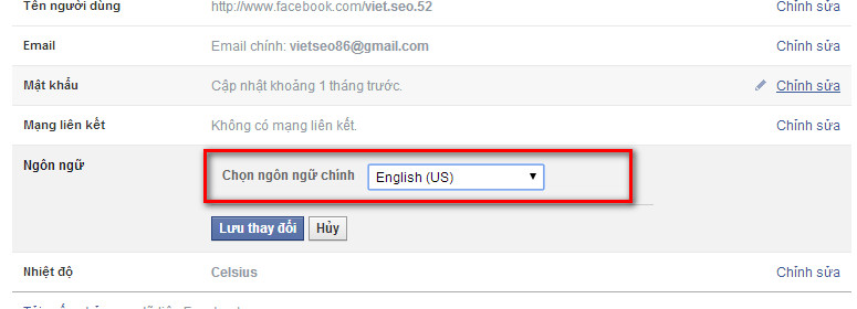 huong dan chuyen facebook sang ngon ngu tieng anh 1 Hướng dẫn chuyển Facebook sang ngôn ngữ Tiếng Anh   Facebook Ninja