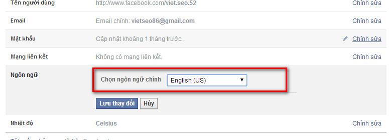 huong dan chuyen facebook sang ngon ngu tieng anh Hướng dẫn chuyển Facebook sang ngôn ngữ Tiếng Anh   Facebook Ninja