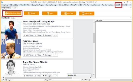 huong dan quet uid facebook bang graph seach 1 Hướng dẫn quét UID Facebook bằng Graph Seach