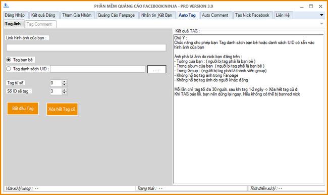 phan mem auto tag ban be uid Hướng dẫn Auto Tag bạn bè hoặc UID bất kỳ vào hình ảnh  Facebook Ninja