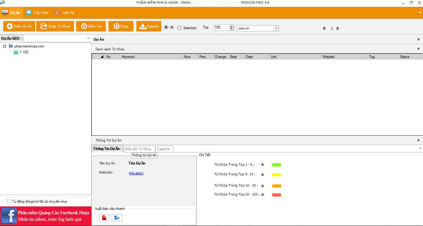 ninja rank Tiết kiệm tối đa thời gian với phần mềm kiểm tra thứ hạng từ khóa   Ninja Rank